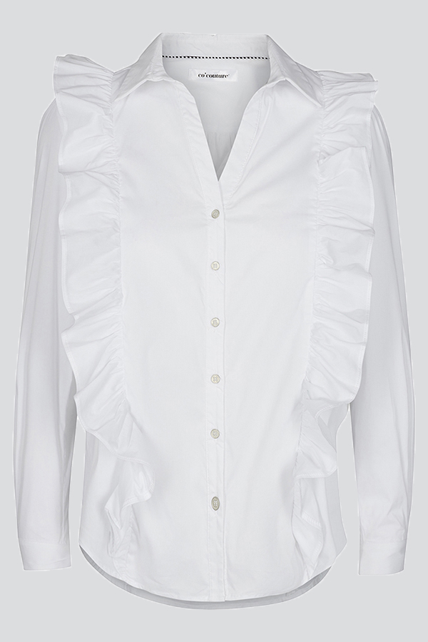 cd5ac9a1 Co'Couture White Frill Shirt ⋆ Thousand Manners