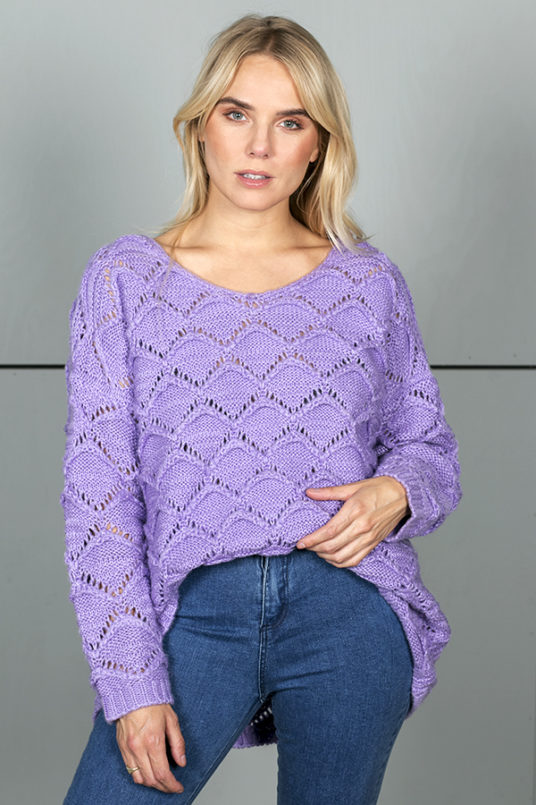 Lila Cloudy Knit Sweater