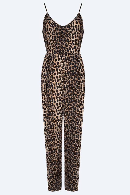 Jumpsuit met luipaard print!
