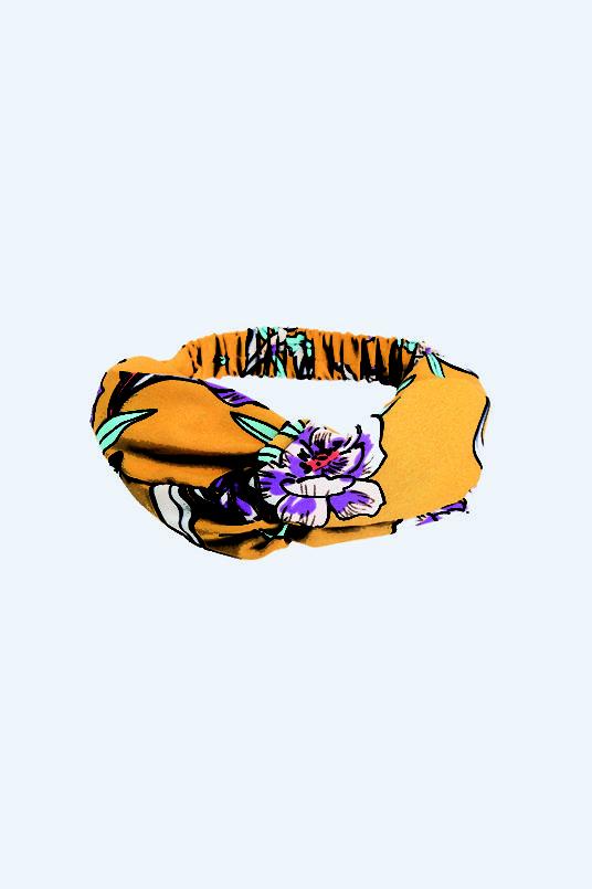 Headband Yellow Floer Printed