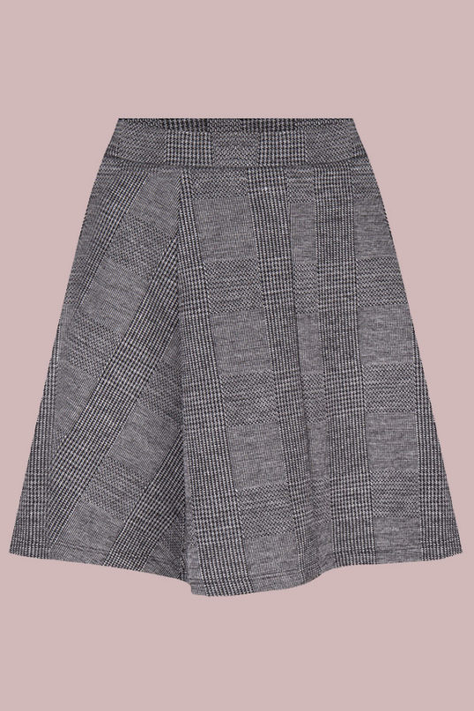 24Colours Checked Grey Skirt